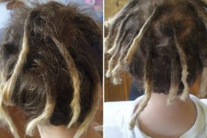 Dreadlocks maintenance half head