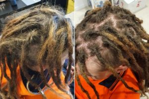 Crochet maintenance brisbane before after dreadlocks