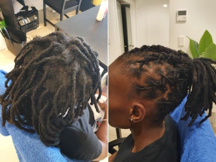 Retwist and style dreads