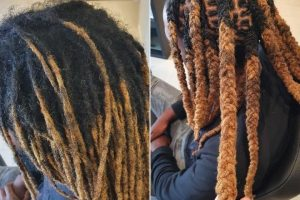 Retwist maintenance style afro hair brisbane before after