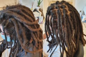 reconstruction repair crochet dreadlocks brisbane before after