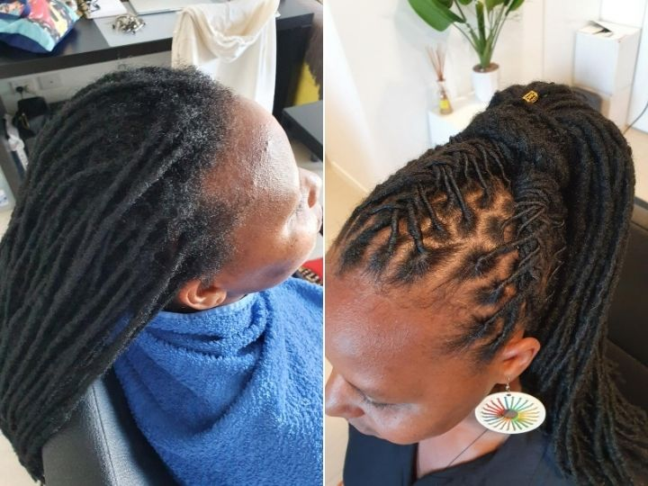 retwist afro hair brisbane dreadlocks style
