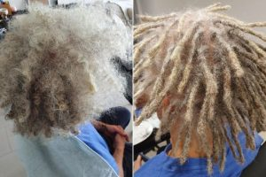 starting dreads afro hair brisbane before after